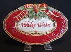 Fitz & Floyd HOLIDAY WISHES Christmas Sentiment Tray Damask Holiday
