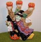 1995 Fitz and Floyd Retired Halloween Witch Candelabra Ghosts Bats - NEW PRICE