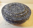 9 QUEEN'S MYOTT CHURCHILL CALICO BLUE CHINTZ 6 DINNERS 3 SIDE PLATES