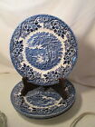 CHURCHILL English Scene Blue 4 - Bread and Butter Plates