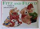 Fitz & Floyd Christmas Holiday Elf Salt & Pepper Shakers  3 1/2