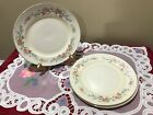 4 Homer Laughlin Eggshell Georgian Salad plates gold trim approx. 9