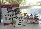 FITZ & FLOYD FROSTY'S FROLIC COOKIE JAR & TUMBLERS NEW IN BOX