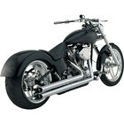 Vance and Hines Chrome Longshots HS Exhaust for Harley Softail Models 86 06