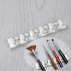 Clear Nail Art Pen Brush Rack Acrylic Stand Holder For 5 Nail Pens Manicure