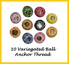 Anchor pearl Variegated Cotton embroidery thread crochet balls size 8  85m