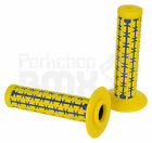 AME old school BMX Dual Duals bicycle grips YELLOW over BLUE MADE IN USA NEW