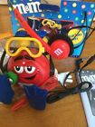 M&M's Red Character Scuba Diver Am/Fm Radio With Headphone Collector Series
