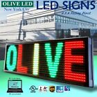 Olive Led Sign 3color Rgy 12x31 Pc Programmable Scroll. Message Display Emc