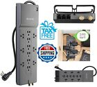 Belkin Surge Protector 12 Outlet Power Strip Protection Home Office 8 FT Cable