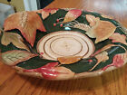 FITZ AND FLOYD CLASSIC 3D AUTUMN LEAVES OBLONG BOWL