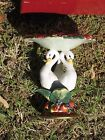 Fitz and Floyd Holiday Swan Pillar Candle Holder Discontinued Item Christmas