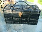 Vintage Bags By Dormar Japan Purse Sewing Box Wooden Spool Thread Carry Case