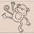 Hero Arts 248788 Mounted Rubber Stamp 2inX2in Playful Monkey NEW