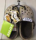 Crocs Star Wars Chewbacca Crocband lined clogs Khaki Brown Boys US Size 2 NWT