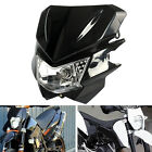 Universal Headlight Fairing Lamp For Streetfighter Dirt Bike Motorcycle  New