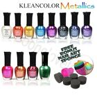12 Kleancolor METALLIC Nail Polish Lacquer 15mL Choose Your Shade