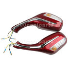 8mm Scooter Rearview Mirrors Pair Moped Motorcycle Gy6 50cc 150cc 250cc