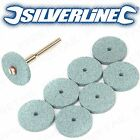 8x SILICONE CARBIDE 20mm DREMEL GRINDING DISCS Rotary Tool DIY Sanding Wheels