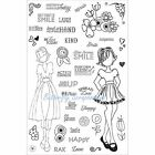 PLANNER STAMPS Clear Unmounted Rubber Stamp Set Julie Nutting Prima 911690 New
