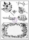 Vintage Emporium Collection Clear Unmounted Rubber Stamp Set Prima 584757 New
