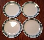 Lot Of 4 Corelle GINGHAM GREEN 10.5