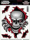 Skull Reaper Sticker For Motorcycle Windshield Fairing Decal Lethal Threat