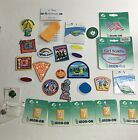 Large lot of Girl Scout 26 patches and 2 pins