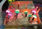 7 VINTAGE CHRISTMAS TREE BUBBLE LIGHTS NOMA C 6 Cloth Cord WORKS in box