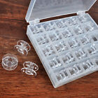 25spools Bobbins Sewing Machine Bobbin Case Organizer Storage Colorfulclear Box