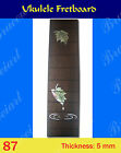 Free Shipping Ukulele Part Slotted Rosewood Fretboard w Mop Art Inlay 87 1