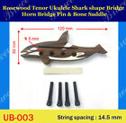 Free Shipping Ukulele Part Rosewood Shark Shape Bridge UB 003 1