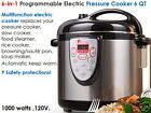 Electric Pressure Cooker Stainless Steel Pot 6-in-1 Program 1000 W 6 Quart New