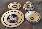 Tienshan Fantasy Unicorn Stoneware 5 Piece Place Setting