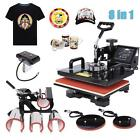 8 In 1 Heat Press Transfer Machine Plate Mug Cup Cap T Shirt Dual LCD Display