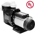 25HP In Ground Swimming Pool Pump Motor Electric 1850W High Flo Strainer 110V