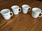 Vintage Corelle Corning USA Country Cottage Blue Heart Coffee Cups Tea Mugs NEW