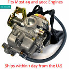 18mm Carburetor Carb for GY6 49cc 50cc Electric Choke ATV Go Kart Scooter Moped