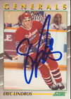 1991-92 SCORE YOUNG SUPERSTARS - ERIC LINDROS #30 OSHAWA GENERALS AUTOGRAPH! CC
