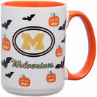Michigan Wolverines 15oz Inner Color Orange Halloween Mug College