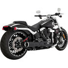 Vance  Hines Black Hi Output 2 into 1 Short Exhaust Harley Breakout  Rocker