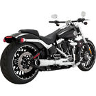 Vance  Hines Chrome Hi Output 2 into 1 Short Exhaust Harley Breakout  Rocker