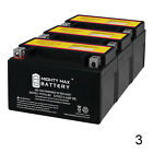 Mighty Max YTX7A BS Battery for Yamaha Scooters Zuma 125 Deep Cycle 3 Pack