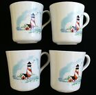 4~CORELLE~Coordinates~OUTER BANKS~Lighthouse By The Sea~COFFEE CUPS MUGS~Perfect