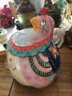 Fitz And Floyd Essentials Gypsy Chicks Chicken/Rooster Cookie Jar