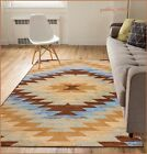 8 x 10 Western Decor Rugs Southwest Style Living Room Area Rug Native Brown Blue