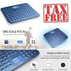 Digital Scale Bathroom LCD Electronic Weight Watchers Body Fat 400LB 180KG BLUE