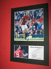 ZLATAN IBRAHIMOVIC MANCHESTER UNITED A4 MOUNT SIGNED PRE PRINTED WAYNE ROONEY