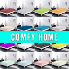 Comfy Home 100 Cotton Solid Color Fitted Sheet All Seasons Deep Pocket Spring