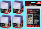 100 ULTRA PRO TOBACCO SIZE CARD TOPLOADERS & SLEEVES Trading Sport Allen Ginter